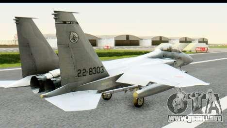 F-15J Mitsubishi Heavy Industries para GTA San Andreas left