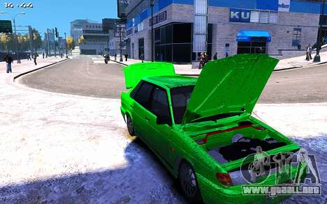 Lada 2115 para GTA 4 vista hacia atrás