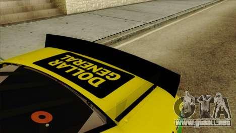 NASCAR Toyota Camry 2013 para GTA San Andreas vista hacia atrás