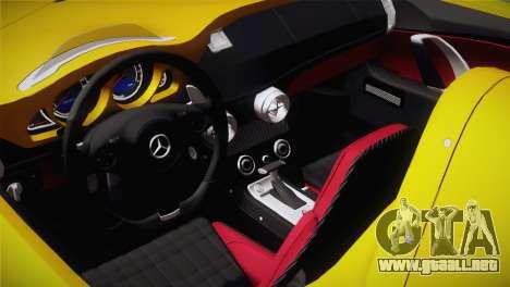 Mercedes-Benz SLR McLaren Stirling Moss para GTA San Andreas vista hacia atrás