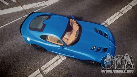 Dodge Viper SRT 2013 rims2 para GTA 4 visión correcta