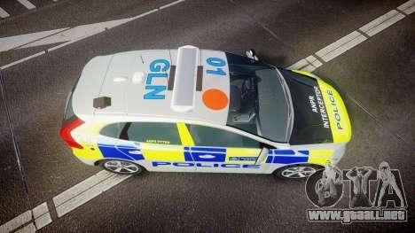 Volvo V40 Metropolitan Police [ELS] para GTA 4 visión correcta