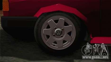 Volkswagen Senda para GTA San Andreas vista posterior izquierda