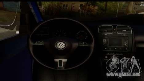 Volkswagen Caddy v1 para GTA San Andreas vista hacia atrás