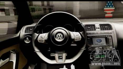 Volkswagen Polo GTI para GTA San Andreas vista hacia atrás
