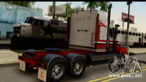 Mack Superliner 6x4 para GTA San Andreas left