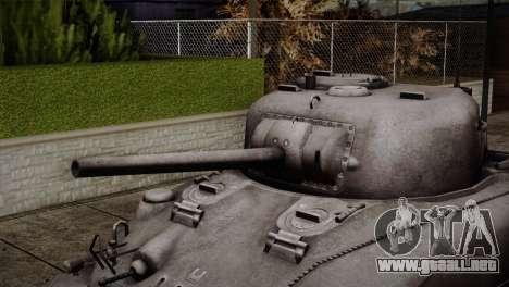 M4 Sherman para GTA San Andreas vista hacia atrás