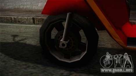 Original Pizzaboy IVF para GTA San Andreas vista posterior izquierda