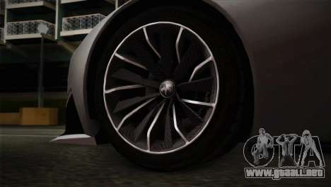 Peugeot Onyx para GTA San Andreas vista posterior izquierda
