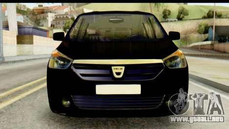 Dacia Lodgy para GTA San Andreas vista hacia atrás