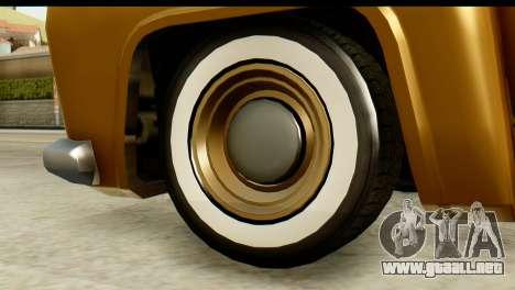 EFLC TLaD Vapid Slamvan para GTA San Andreas vista posterior izquierda