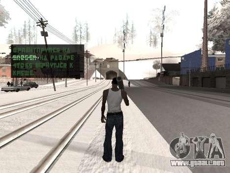 Colormod v5 para GTA San Andreas sucesivamente de pantalla