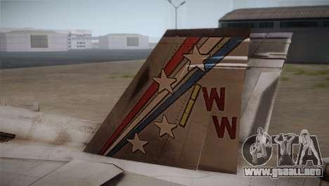 F-18 Hornet (Battlefield 2) para GTA San Andreas vista posterior izquierda