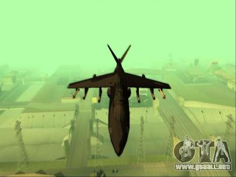 McDonnell Douglas AV-8B Harrier II Beta para visión interna GTA San Andreas