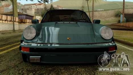 Porsche 911 Turbo 3.3 Coupe 930 1981 para GTA San Andreas vista hacia atrás