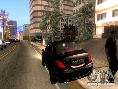 Mercedes-Benz Long S65 W222  Black loaf para visión interna GTA San Andreas