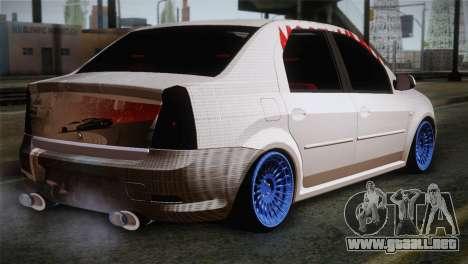 Dacia Logan Most Wanted Edition v3 para GTA San Andreas left