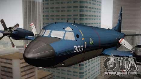 Lockheed P-3 Orion MLD Old para GTA San Andreas vista hacia atrás