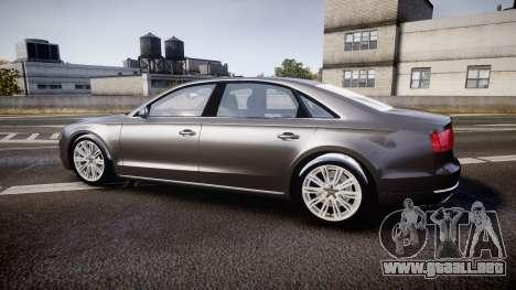 Audi A8 L 4.2 FSI quattro para GTA 4 left