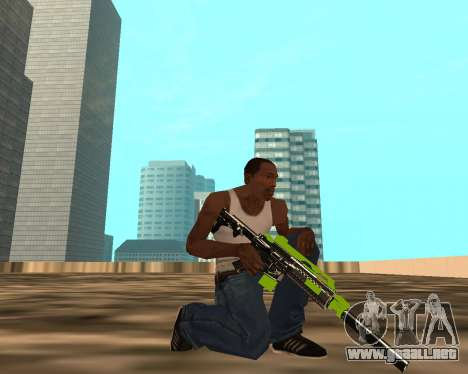 Sharks Weapon Pack para GTA San Andreas sucesivamente de pantalla