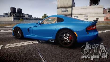 Dodge Viper SRT 2013 rims2 para GTA 4 left