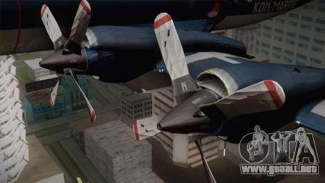 Lockheed P-3 Orion MLD Old para la visión correcta GTA San Andreas
