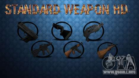Standard HD Weapon Pack para GTA San Andreas