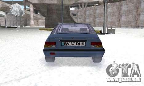 Dacia Super Nova para GTA San Andreas vista hacia atrás