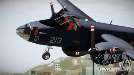 Lockheed P2V-7 Neptune MLD para la visión correcta GTA San Andreas