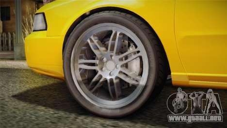 MP3 Fathom Lemanja LX para GTA San Andreas vista posterior izquierda