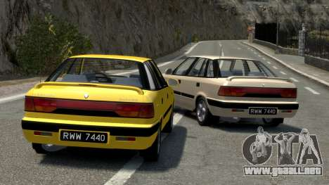 Daewoo Espero 2.0 CD 1996 para GTA 4 vista desde abajo