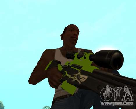 Sharks Weapon Pack para GTA San Andreas undécima de pantalla