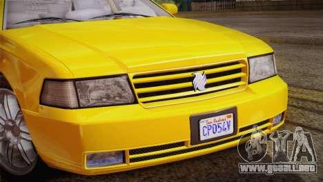 MP3 Fathom Lemanja LX para GTA San Andreas vista hacia atrás