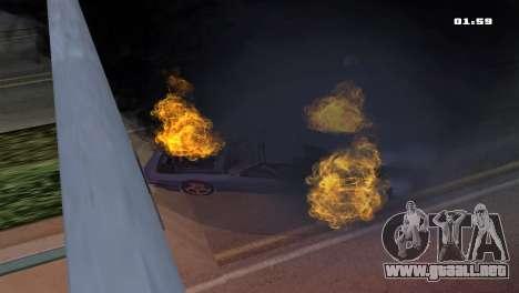Burning Car para GTA San Andreas tercera pantalla