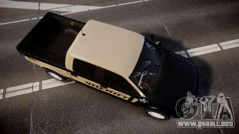 Ford F150 Liberty County Sheriff [ELS] Slicktop para GTA 4 visión correcta