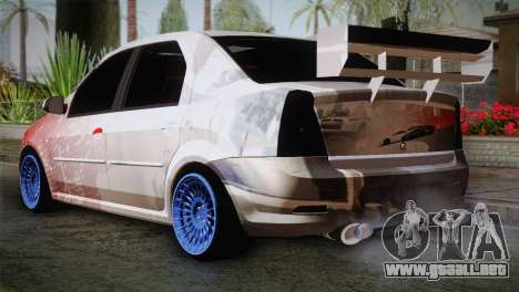 Dacia Logan Most Wanted Edition v2 para GTA San Andreas left