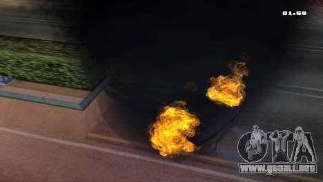 Burning Car para GTA San Andreas sucesivamente de pantalla