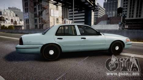 Ford Crown Victoria 2007 para GTA 4 left
