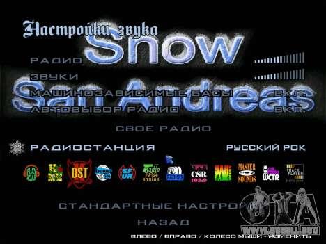 Radio ROCK ruso para GTA San Andreas segunda pantalla