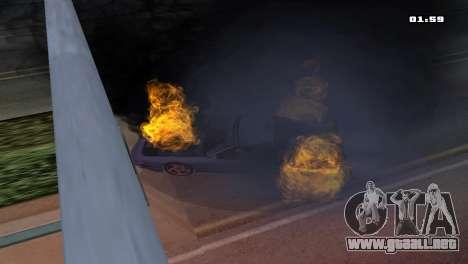 Burning Car para GTA San Andreas segunda pantalla