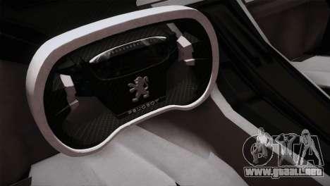 Peugeot Onyx para GTA San Andreas vista hacia atrás