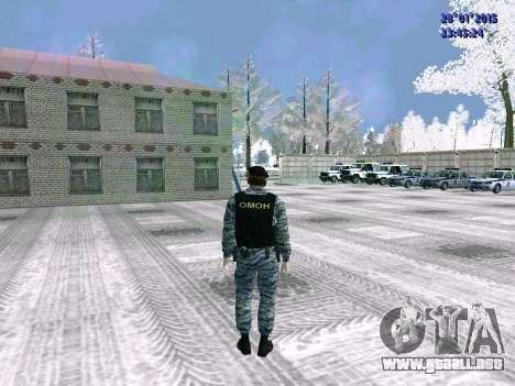 El OMON de combate para GTA San Andreas sucesivamente de pantalla