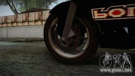 GTA 5 Bati Police para GTA San Andreas vista posterior izquierda