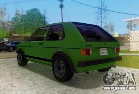 Volkswagen Golf GTD Mk1 para la visión correcta GTA San Andreas