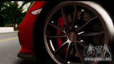 Porsche Cayman GT4 981c 2016 EU Plate para GTA San Andreas vista hacia atrás