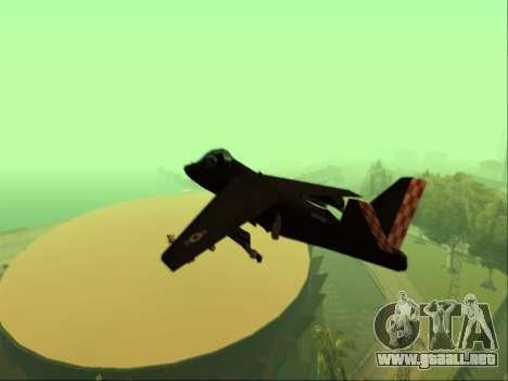 McDonnell Douglas AV-8B Harrier II Beta para GTA San Andreas vista hacia atrás