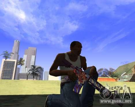 Skins Weapon pack CS:GO para GTA San Andreas quinta pantalla