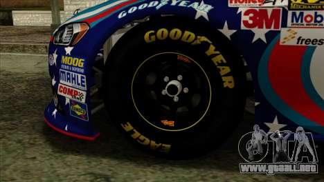 NASCAR Ford Fusion 2013 para GTA San Andreas vista posterior izquierda