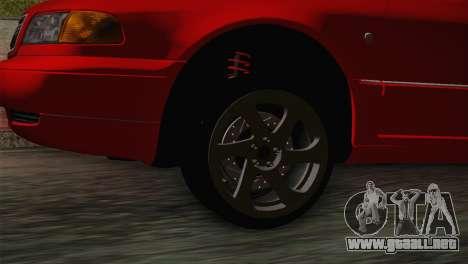 Audi A8 2000 para GTA San Andreas vista posterior izquierda