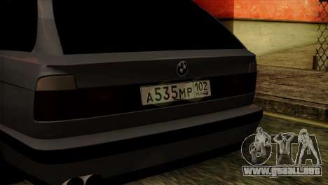 BMW M5 E34 Touring para GTA San Andreas vista hacia atrás